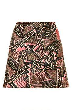 Topshop Jacquard A-Line Skirt @Nordstrom