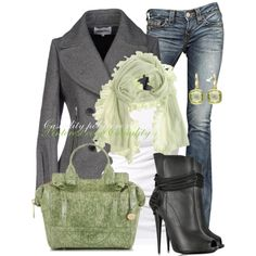green, grey, polyvore, fall trends