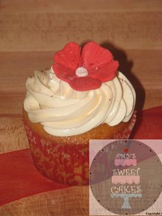 red and white cupcake
