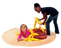 Giant weighted pizza from http://store.schoolspecialty.com