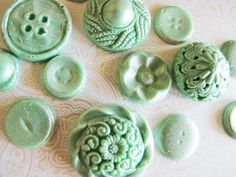 mints, pastels, mint green, chocolates, candies, buttons, petticoat, chocol button, vintage inspired