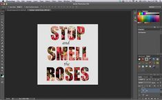 Photoshop Tutorial: Patterned Text