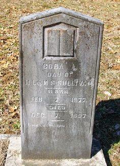 Western Kentucky Genealogy Blog: Tombstone Tuesday - Cora Sullivan #genealogy #familyhistory