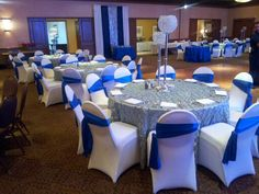 Eldorado Country Club - Wedding Reception Ballroom in Blue  www.eldoradocc.com recept ballroom, blue wwweldoradocccom