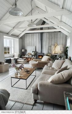 cabin, interior, coffee tables, cottag, living rooms