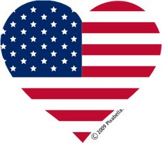Red, White & Blue Heart