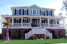 Plan W9149GU: Southern, Photo Gallery, Low Country House Plans & Home Designs