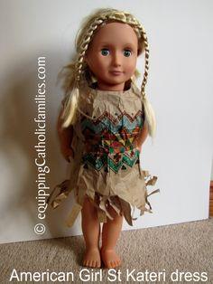 American Doll St Kateri: DIY paper bag dress