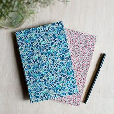 DIY: floral fabric covered notebooks