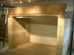 Bath stone inglenook fireplace