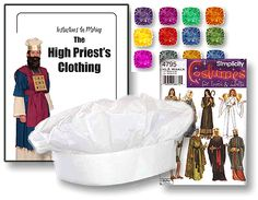 """Make a colorful detailed High Priest's costume for the Old Testament tabernacle with the help of the visual kit for the KIMI Curriculum """"The Blood of Jesus."""" Stunning visuals for your children's ministry or Sunday School class. Children's Church. http://kidsinministry.org/resources/more-stuff/the-blood-of-jesus-visual-kit/ $147.95"""