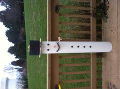PVC snowman bird feeder