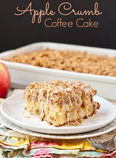 This Apple Crumb Coffee Cake is just as good for breakfast as it is for dessert.