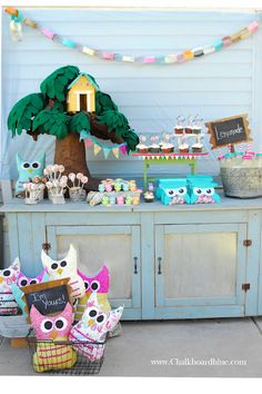 Nonbinding..this is for you! cute owl party ideas