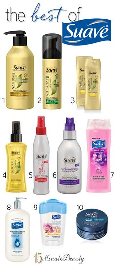 Yes, there really are some great #hair and #skincare products from Suave!