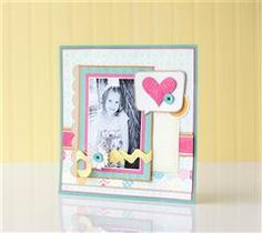 Record your love for that special someone with this layered scrapbook page.