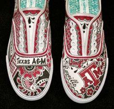 Texas A, custom tennis shoes