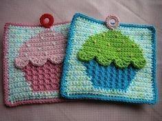 . libraries, craft, crochet potholders, cupcakes, cupcak pothold, cupcake crochet, knit, pothold pattern, cupcak crochet