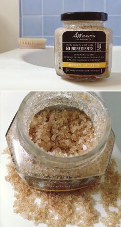 S.w. basics sugar scrub - This scrub will exfoliate & hydrate at the same time.  Great ingredients, too