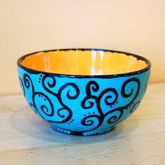 Ceramic bowls and dishes on pinterest art studios for Bowl painting ideas
