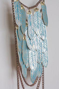 ref YUKIA  Blue ice harness amulet body chain by paganpoetryshop, €135.00