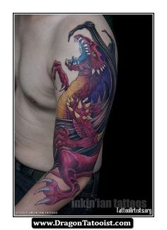 Medieval Dragon Tattoos Sleeve 05 - http://dragontattooist.com/medieval-dragon-tattoos-sleeve-05/