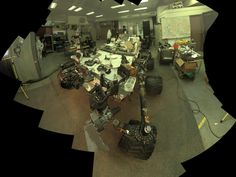 NASA - Self-Portrait of Curiosity's 'Stunt Double'. Camera and robotic-arm maneuvers for taking a self-portrait of the NASA Curiosity rover on Mars were checked first, at NASA's Jet Propulsion Laboratory in Pasadena, Calif., using the main test rover for the Curiosity.