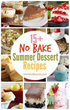 No Bake Summer Dessert Recipes!! #Foodie