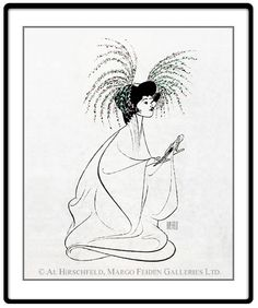"""M. Butterfly: B. D. Wong  Hand signed by Al Hirschfeld  Limited-Edition Lithograph  Edition Size: 100.  25"""" x 20"""""""