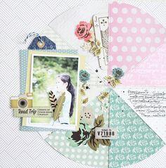 Michiko Kato #layout for @gossamerbluekit // via #gossamerblue