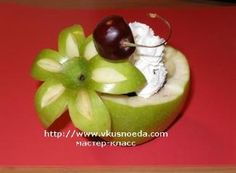 How to make an apple garnish and apple bowl