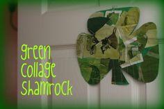 Green collage shamrock