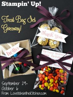 I am so excited to have another great giveaway for you guys from Stampin' Up!I love their company and products and am so happy that one of you will win your own treat bag set! I love giving treats to my friends, family and neighbors. As you see on my blog I make a lot...Read More »