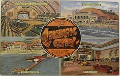 1940s ATLANTIC CITY Postcard vintage NEW JERSEY SHORE