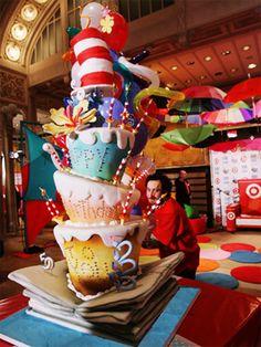 cat, idea, colett cake, dr suess, cake awesom, fun cake, hat, birthday cakes, seuss cake