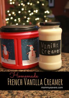 Easy Frugal Holiday Gift Idea:  Homemade French Vanilla Creamer!  Yum!