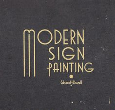 Modern Sign Painting
