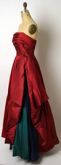 1950 French Silk Ball Gown