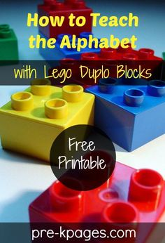 How to Teach the Alphabet with LEGO Duplo Blocks from Pre-K Pages
