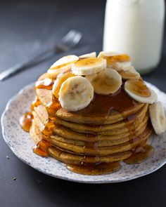 Best Ever Whole Wheat Pumpkin Pancakes - fluffy and perfect every time! 120 calories per pancake. | pinchofyum.com