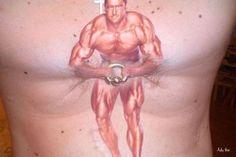 Tattoodles on pinterest funny tattoos tattoo artists for Nipple tattoo heart