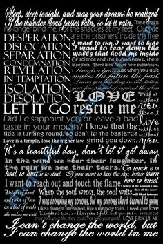 U2 lyrics art