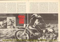 1973 Ossa 250 SDR Road Test / Specs