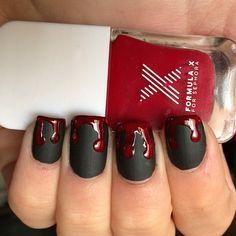 awesom halloweenailart, nail polish, nail art designs, nail arts, black nails, matte black, nail ideas, halloween nail art, halloween nails