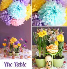 Handmade Parties: Spring Flowers Party + Tutorial + Printables