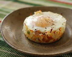 Nibble Me This: Baked Eggs Napoleon