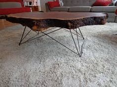 live edge furniture, coffee table with steel leg base