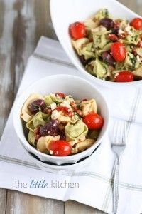 Feta and Kalamata Olive Tortellini Pasta Salad  --Lunchbox Inspiration