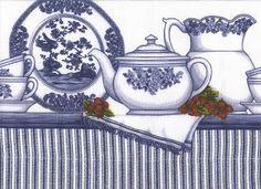 blue and white tea