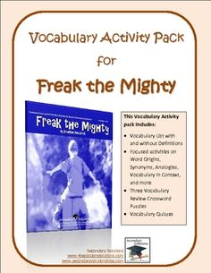 Grammar and Vocabulary Activity Pack for Freak the Mighty